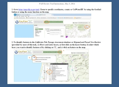 TUTORIAL: California Passage Assessment Database - Using the PAD Data Review & New Barrier Mapping Application