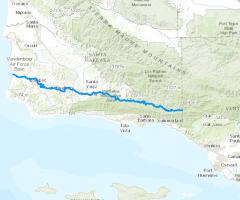 Calfish programs data conservation and management california santa ynez river data source esri freerunsca Gallery
