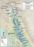 Monitored Rivers - Central Valley Region